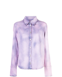 MSGM Tie Dye Denim Shirt