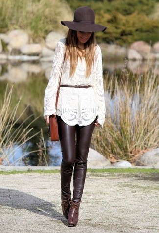 Daniel Cropped Leather Skinny Pants