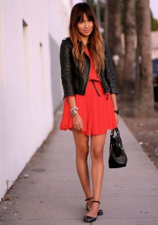 e8abae9cae How to Wear a Red Skater Dress (48 looks   outfits)
