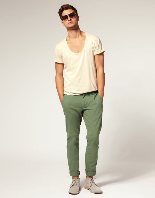 Collection Green Chino Pants Pictures - Kianes
