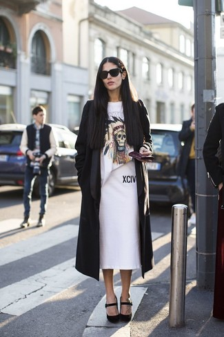 Opt for a MICHAEL Michael Kors Michl Michl Kors Double Face Wool Blend Duster and a white pencil skirt and you'll look like a total babe. Round off this outfit with black suede pumps. We guarantee this look is the answer to all of your spring style woes.