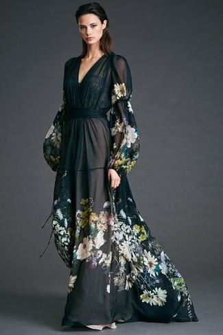 f8da37d79199 Asos Maternity Wedding Floral Chiffon Bandeau Maxi Dress, £35 | Asos ...