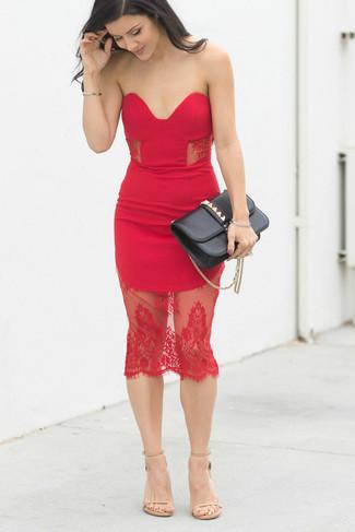 b6cea80242 Love Triangle V Neck Mini Dress In All Over Lace