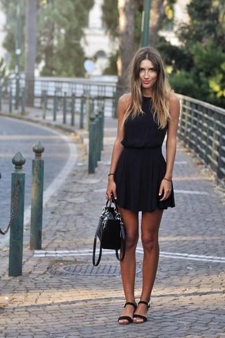 222557519cd1b ... Women s Black Leather Tote Bag