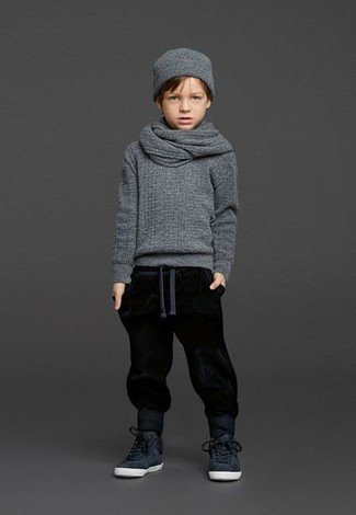 Kids Ribbed Cashmere Hat