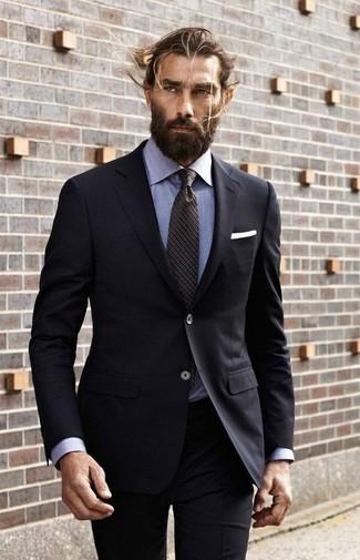 Black Dress Shirt With Black Suit | My Dress Tip