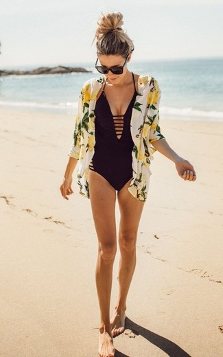 Kenneth Cole Cutout One Piece Swimsuit