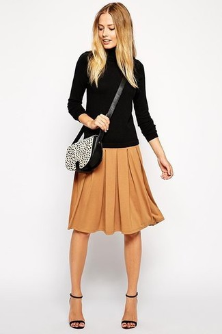 How to Wear a Dark Brown Midi Skirt (11 looks) | Women's Fashion