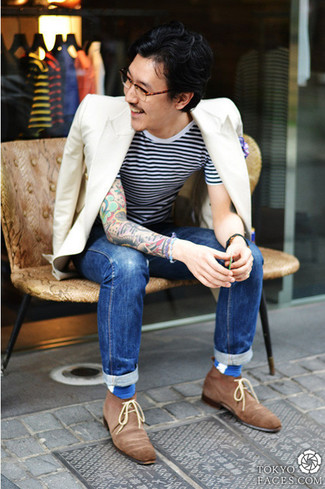 Which Desert Boots To Wear With Blue Jeans | Men's Fashion