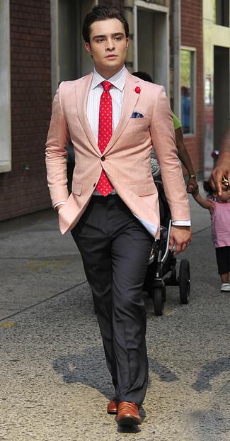 Blazer dress shirt dress pants brogues tie pocket square large 993