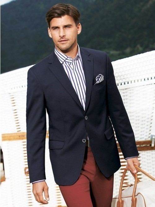 How To Wear a Blazer With Burgundy Pants | Men's Fashion