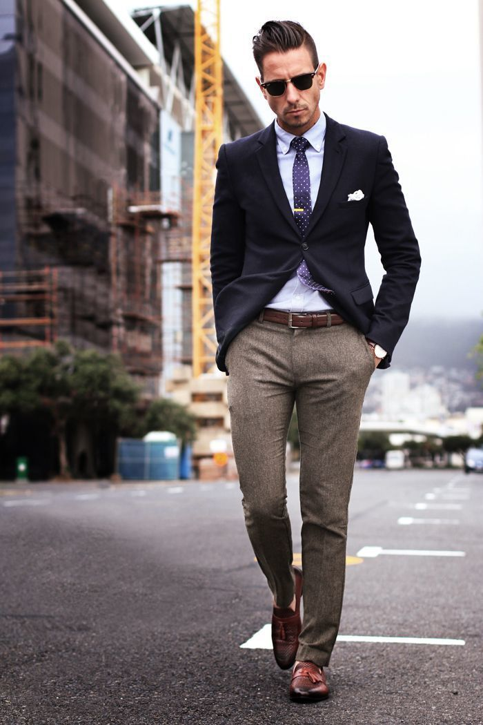 Dark Brown Wool Dress Pants | Men's Fashion