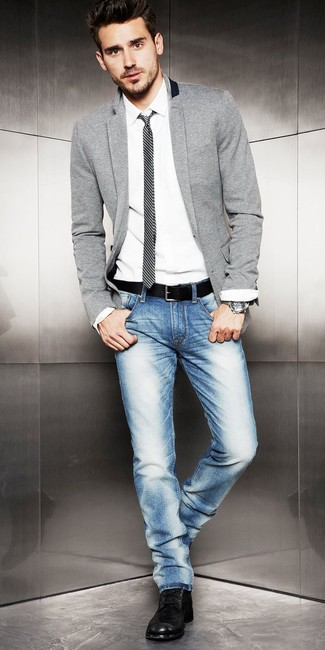 site officiel air max - How To Wear a Grey Blazer With Black Leather Boots | Men's Fashion