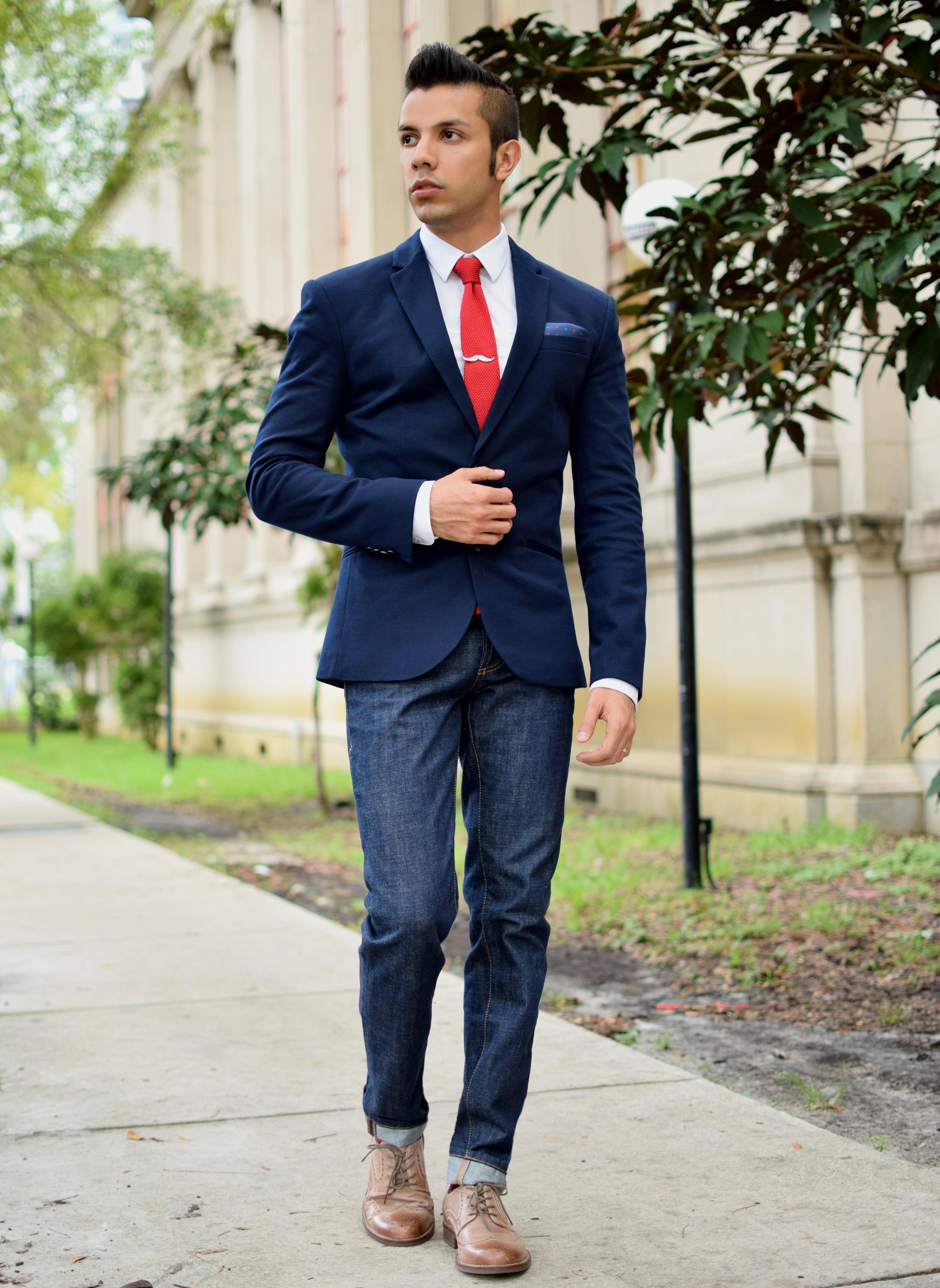 Контраст в одежде как сочетать непарный пиджак и брюки