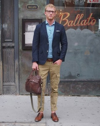How To Wear a Navy Blazer With Olive Pants | Men's Fashion