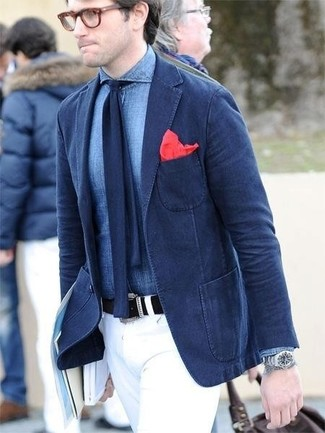 How To Wear a Navy Blazer With a Navy Tie | Men's Fashion