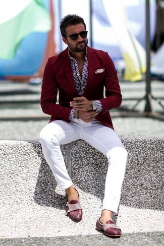 Red dress shoes mens and jeans