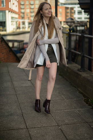 Waist Flared Trench Coat