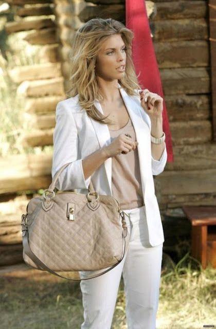 Look blazer blanco mujer