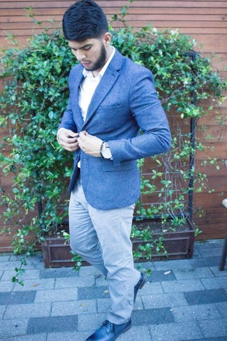 How To Wear A Blue Blazer With Grey Pants 139 Looks Outfits