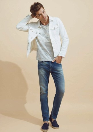 Asos Plus Slim Jeans In Vintage Mid Wash With Abrasions
