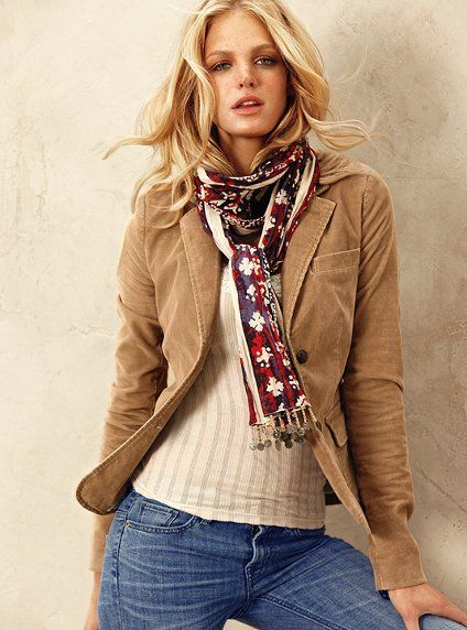 d631b704c4 How To Wear a Red Scarf With Navy and Green Jeans For Women (31 looks &  outfits)   Women's Fashion   Lookastic UK