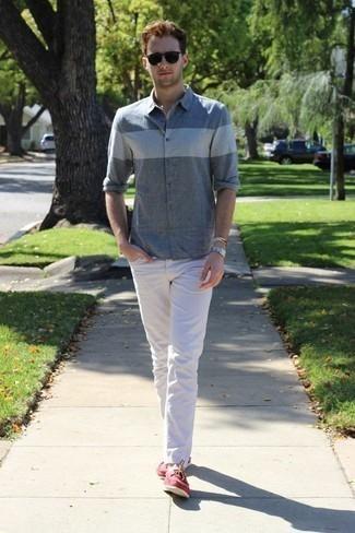 Denim Chambray Utility Shirt