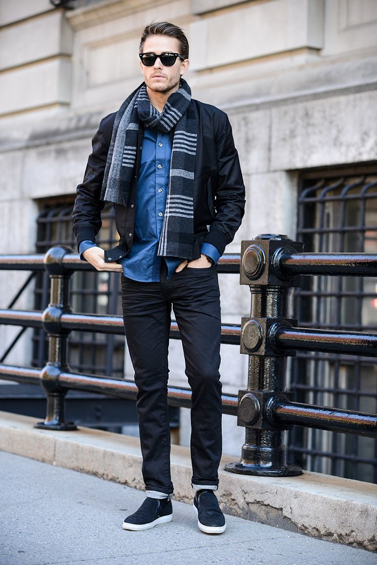 How to Wear a Black Bomber Jacket (129 looks) | Men's Fashion