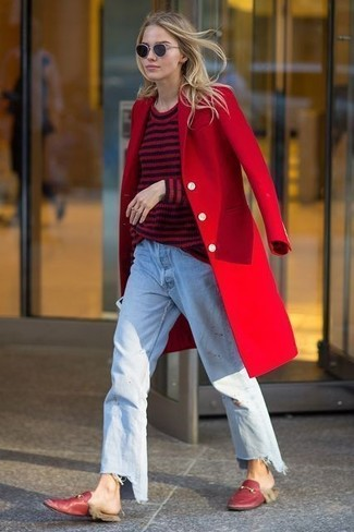 How to Wear Red Loafers For Women (40 looks \u0026 outfits