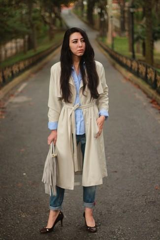 Hazel Denim Trench Coat
