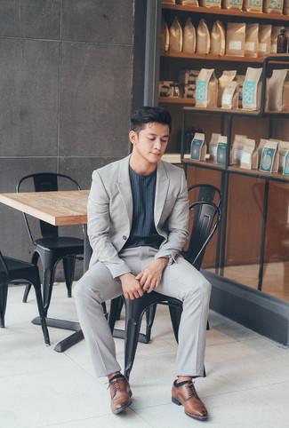 Drop 7 Trim Fit Solid Wool Suit