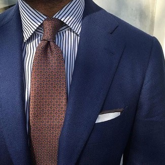 Narrow Diamond Foulard Tie