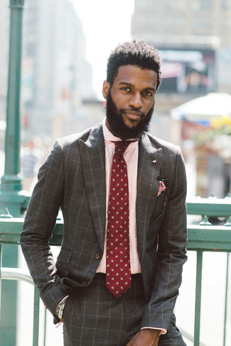 How to Wear a Brown Check Suit: A brown check suit and a pink dress shirt are indispensable sartorial weapons in any guy's sartorial arsenal.