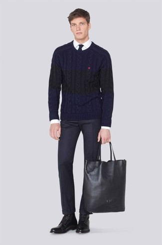 Which Dress Pants To Wear With a Cable Sweater | Men's Fashion