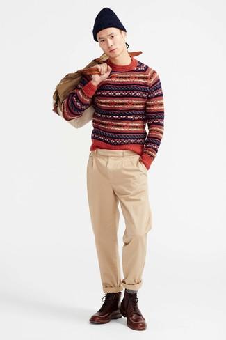 Ribbed Donegal Merino Wool Beanie
