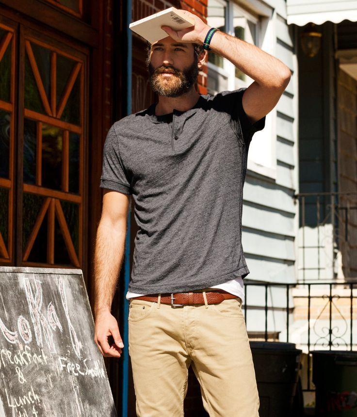 How to Wear Khaki Chinos (433 looks) | Men's Fashion