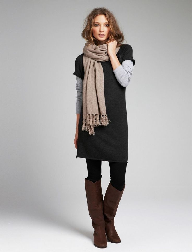 High Sweater Knee Charcoal Leather Dark Brown Dress Womens Boots O0qwx