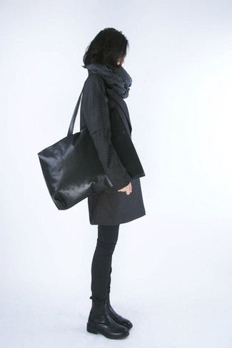 Amina Black Leather Chelsea Boots