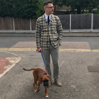 Olive Checked Sport Coat