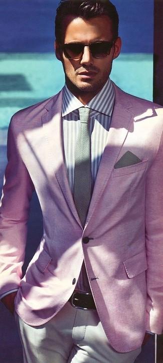 253e307a3c0b2 Slim Fit Textured Suit Jacket In Pink Favorite Unfavorite. A Burton Menswear  ...
