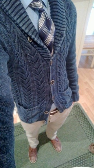 Carded Cotton Shawl Cardigan