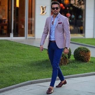 601684e480dc1 Burton Menswear Slim Fit Textured Suit Jacket In Pink, £40 | Asos ...