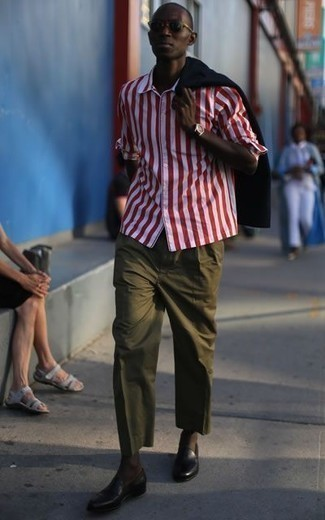 Custom Fit Striped Dress Shirt