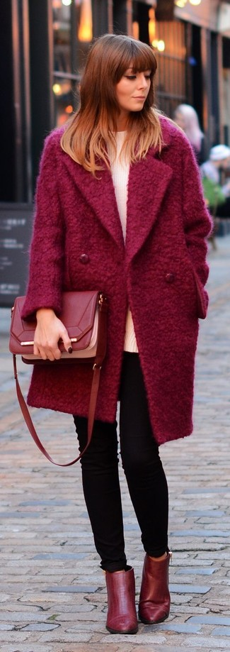 Which Oversized Sweater To Wear With a Red Coat | Women's Fashion