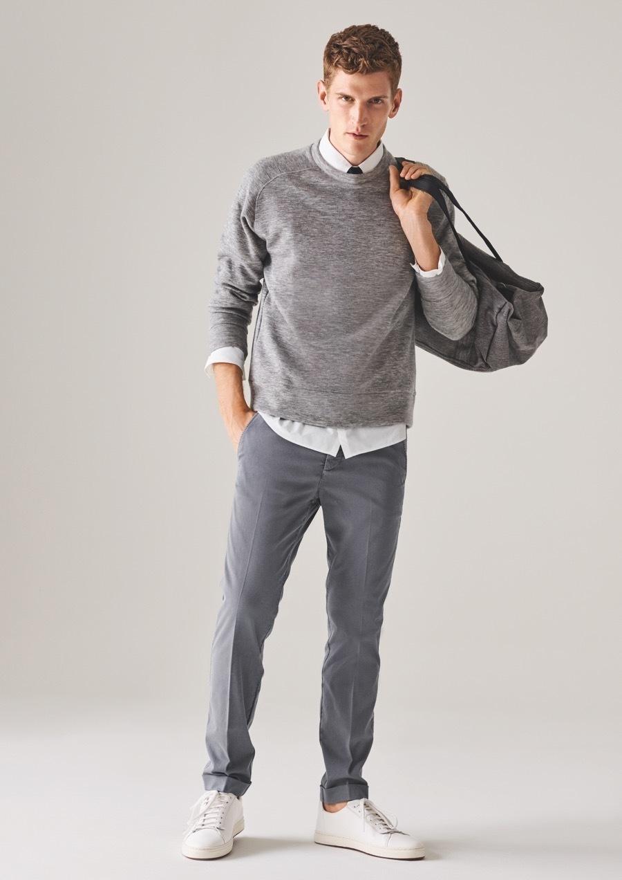 Mens Light Grey Dress Shoes