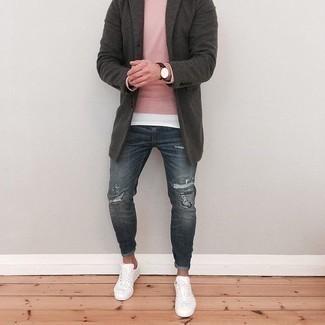 Denim Supply Distressed Straight Fit Jean