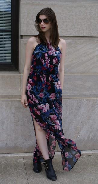 10a86411d5b70 Asos Maternity Wedding Floral Chiffon Bandeau Maxi Dress, £35 | Asos ...