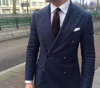Double Breasted Jacket Blue