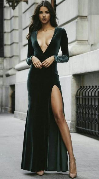 Vestido velvet verde