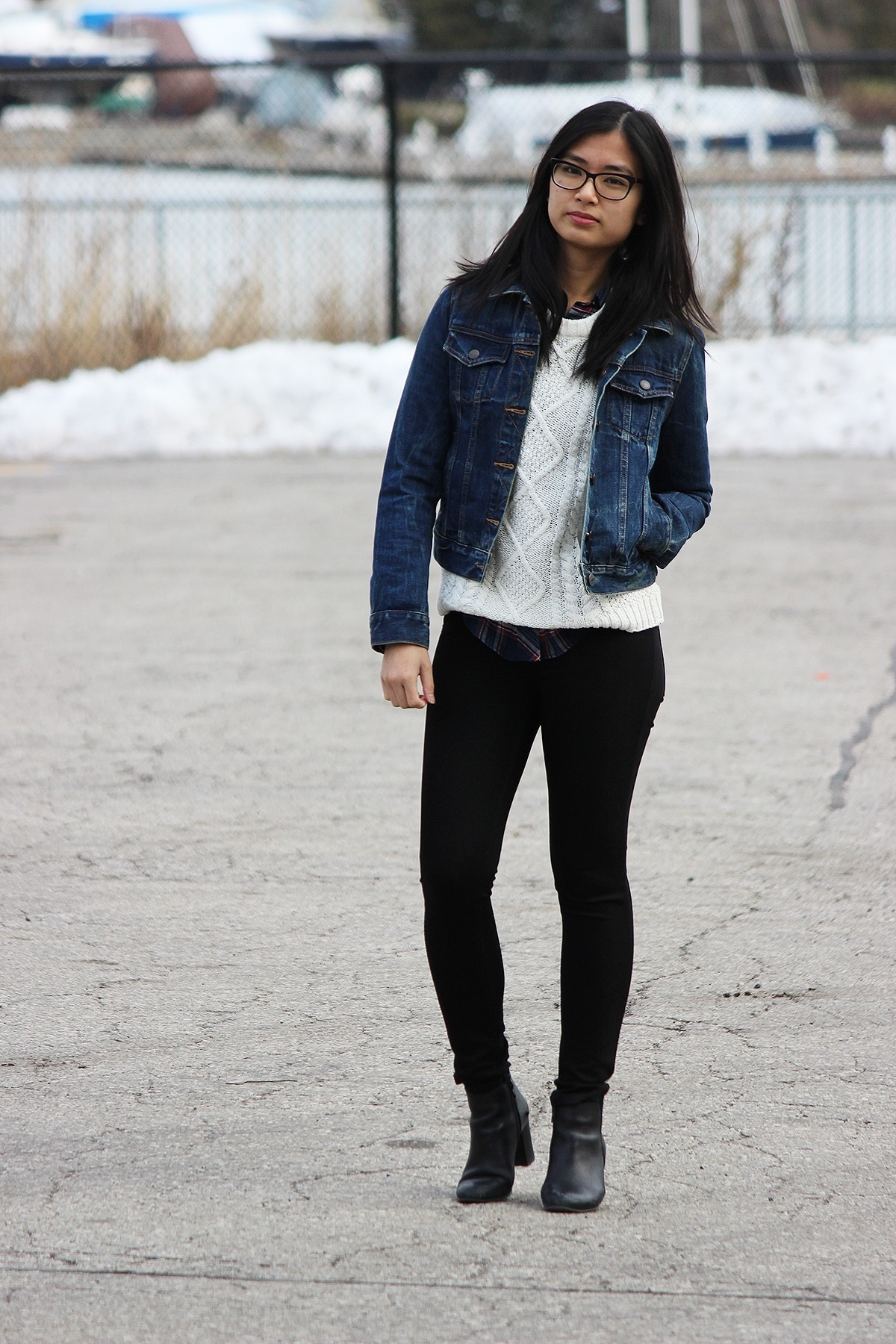 Black dress jean shirt - Black Skinny Jeans With Denim Shirt